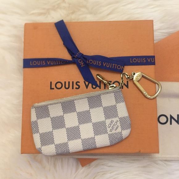 2bb4c9372fe Louis Vuitton Accessories - Louis Vuitton Damier Azur Canvas Key Pouch